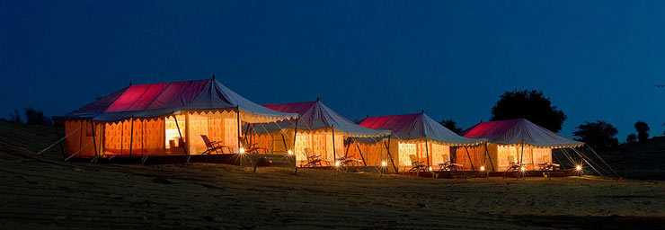 Deluxe tents accommodation with all meals