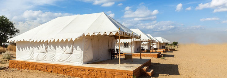 Air conditioned tents accommodation pushkar